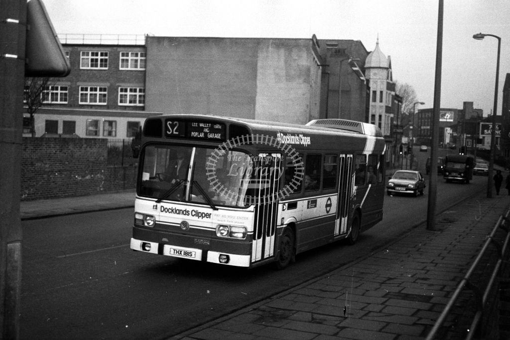 London Transport Leyland National LS LS181 THX181S  on route S2  in 1980s - JGS Smith