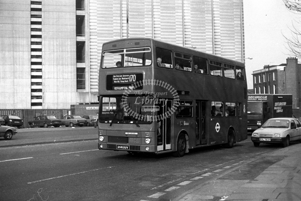 London Transport MCW Metrobus M M1441 A441UUV  on route 170  in 1980s - JGS Smith