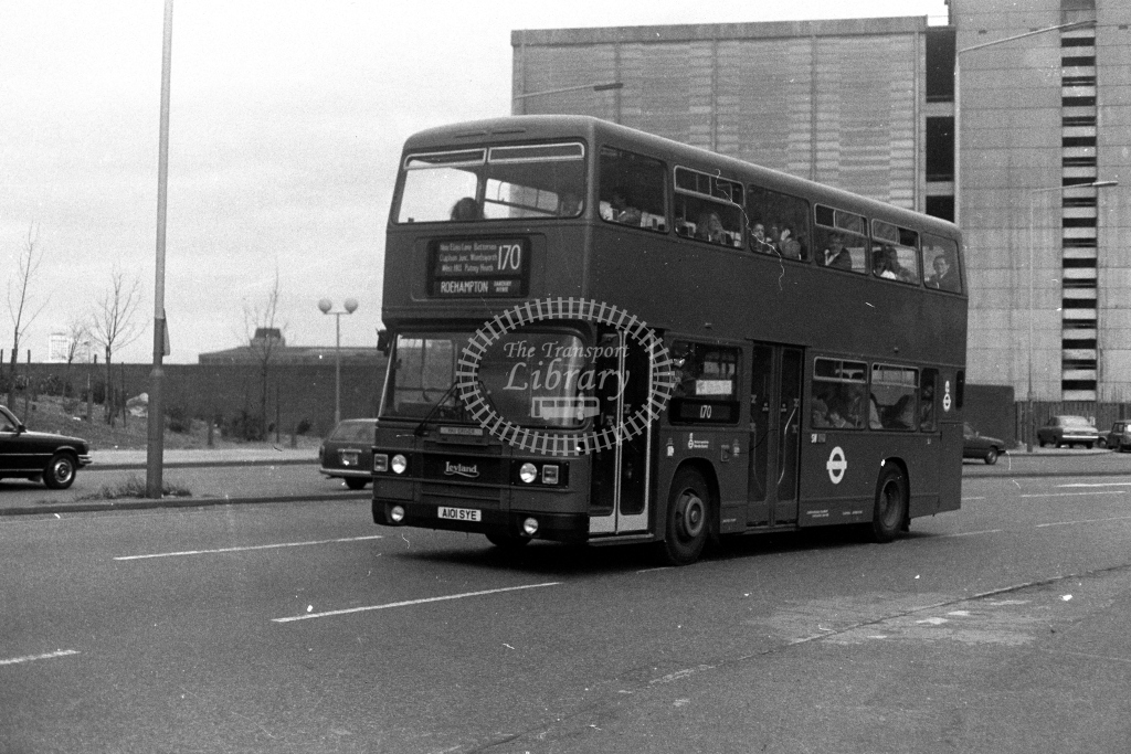 London Transport Leyland Olympian LR L1 A101SYE  on route 170  at Vauxhall  in 1980s - JGS Smith