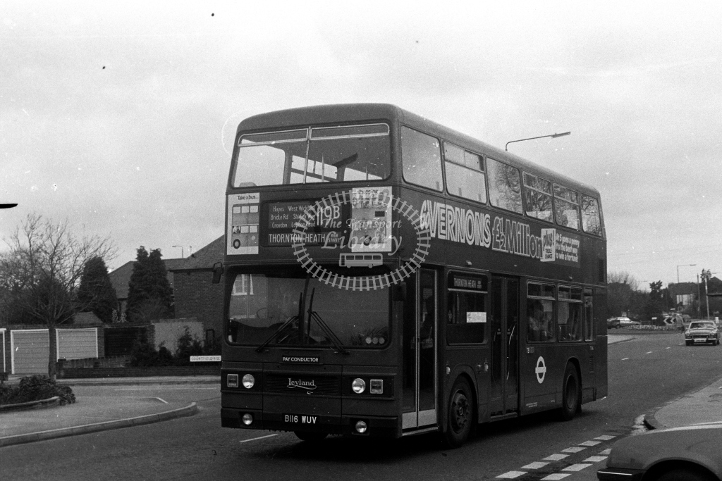 London Transport Leyland Titan T T1116 B116WUV  on route 119B  at West Wickham  in 1980s - JGS Smith