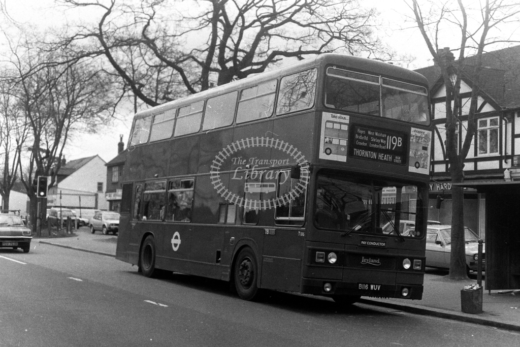 London Transport Leyland Titan T T1116 B116WUV  on route 119B  in 1980s - JGS Smith