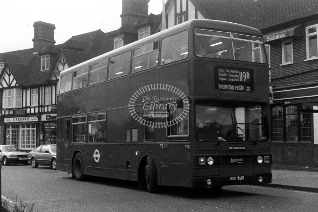 London Transport Leyland Titan T T1121 B121WUV  on route 119B  in 1980s - JGS Smith