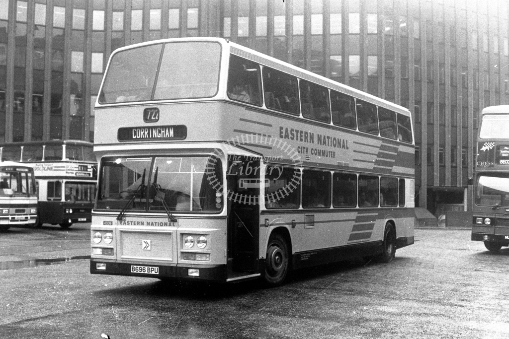Eastern National Leyland Olympian B696BPU  at Aldgate  in 1980s - JGS Smith