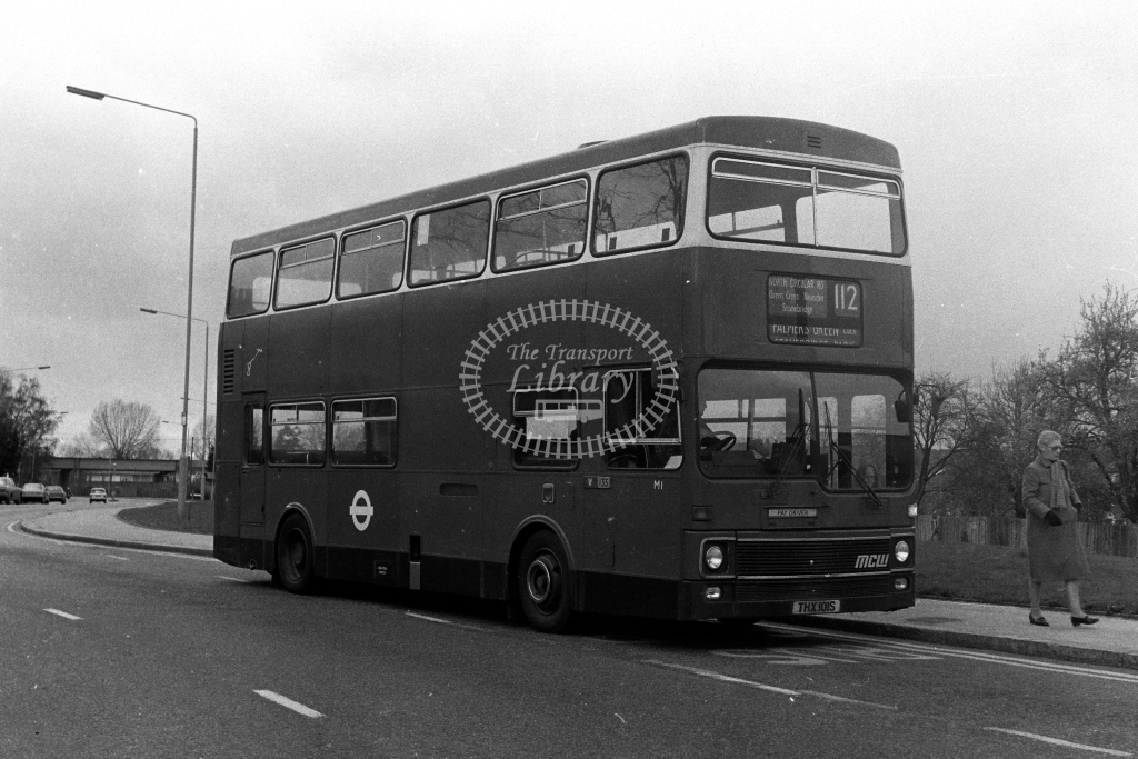 London Transport MCW Metrobus M M1 THX101S  on route 112  in 1980s - JGS Smith