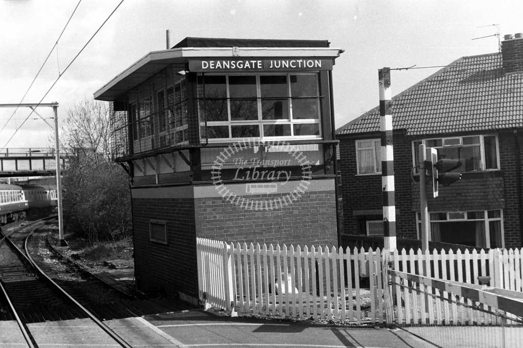 British Rail Signal Box  at Deansgate Junction  in 1990s - JGS Smith