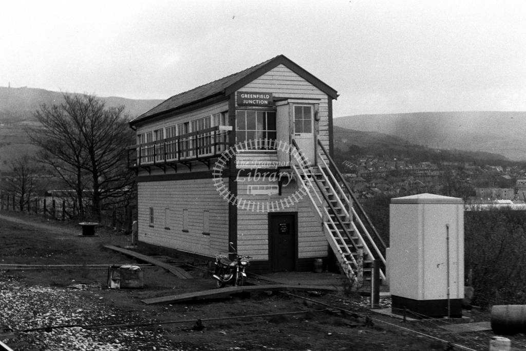 British Rail Signal Box  at Greenfield Junction  in 1990s - JGS Smith