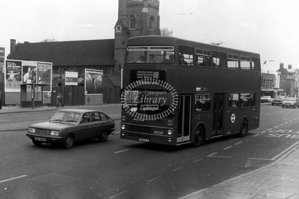 London Transport MCW Metrobus M M1228 B228WUL  on route 118  at Streatham  in 1980s - JGS Smith