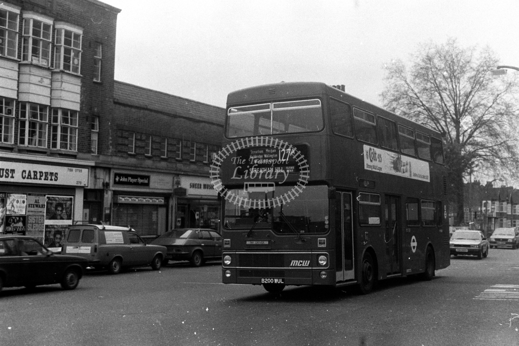 London Transport MCW Metrobus M M1200 B200WUL  on route 127A  in 1980s - JGS Smith