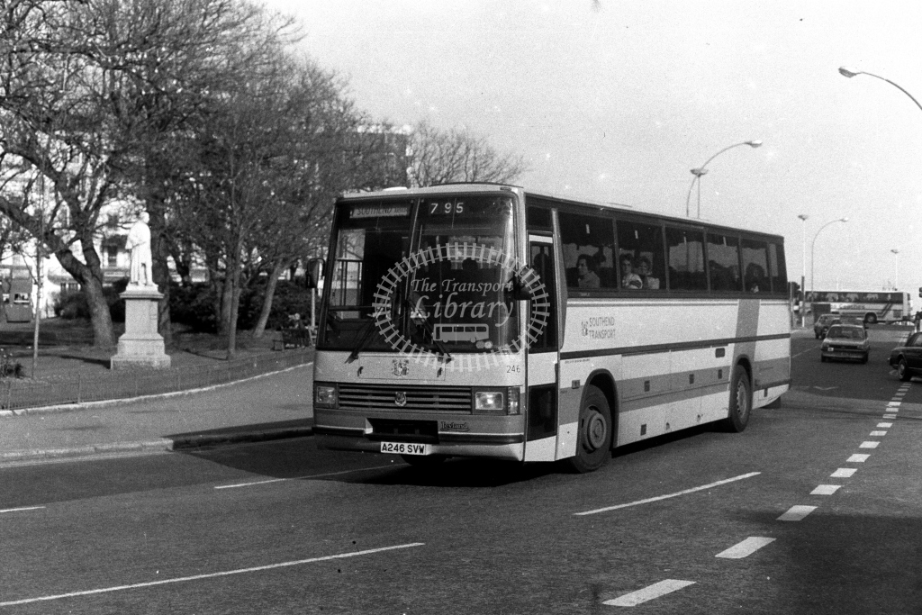 Southend Leyland Tiger A246SVW  on route 795  at Brighton  in 1980s - JGS Smith