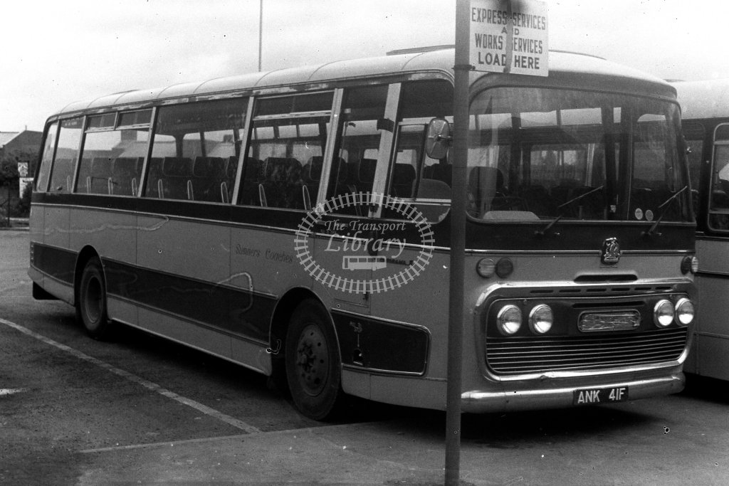 Summers Coaches Bedford VAM ANK41F  in 1980s - JGS Smith