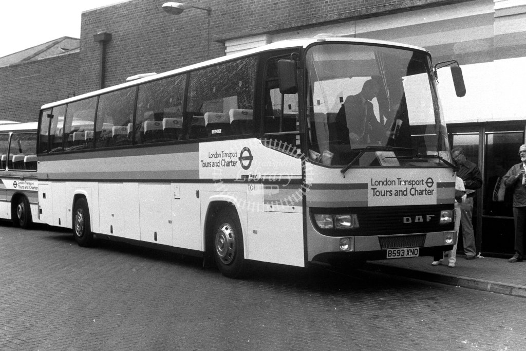 London Transport DAF MB200 B593XNO  in 1980s - JGS Smith