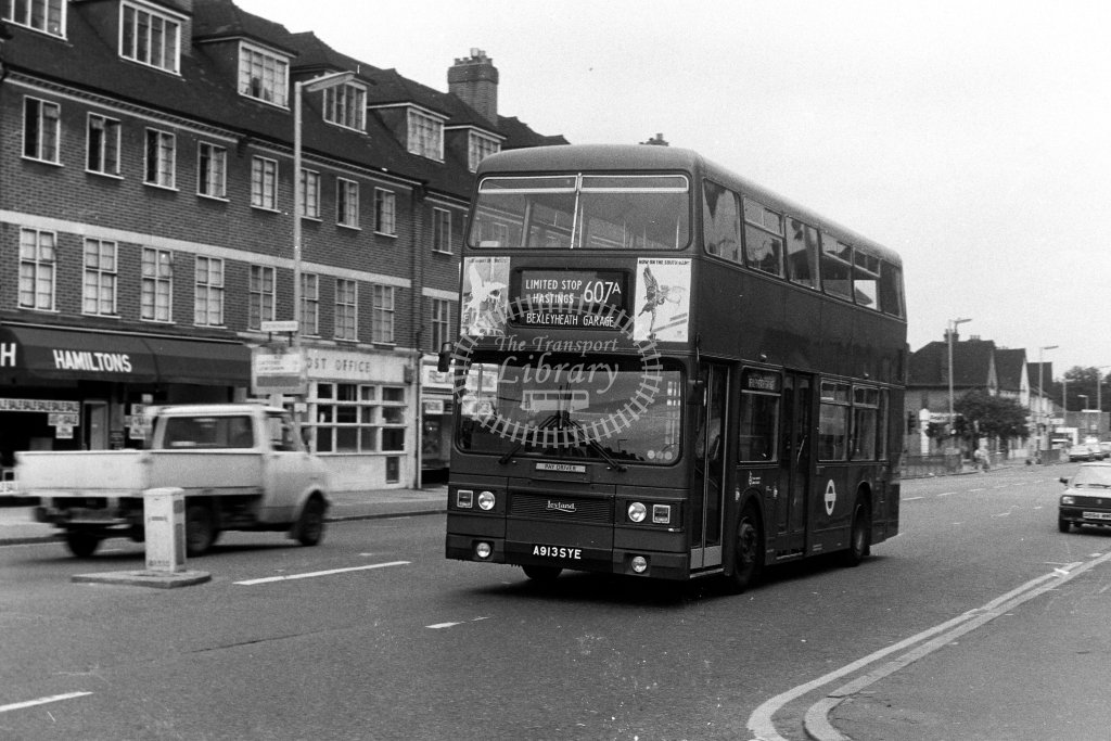 London Transport Leyland Titan T913 A913SYE  at Downham  in 1980s - JGS Smith