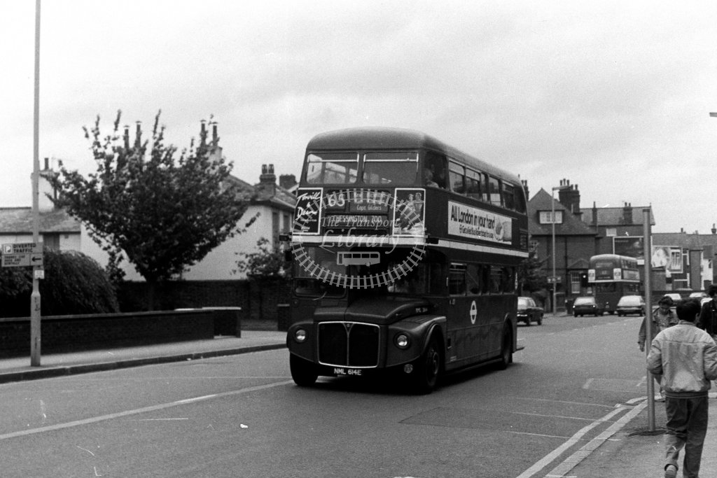 London Transport AEC Routemaster RML2614 NML614E  on route 65  in 1980s - JGS Smith