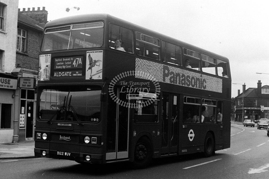 London Transport Leyland Titan T1122 B122WUV  on route 47A  in 1980s - JGS Smith