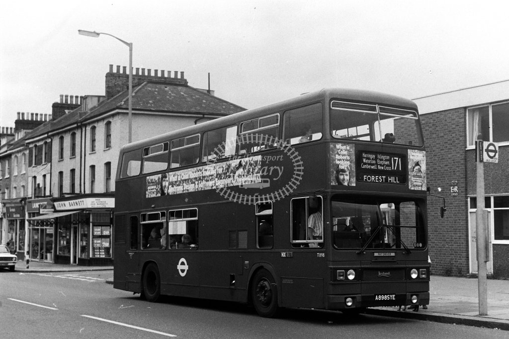 London Transport Leyland Titan T898 A898SYE  on route 171  in 1980s - JGS Smith