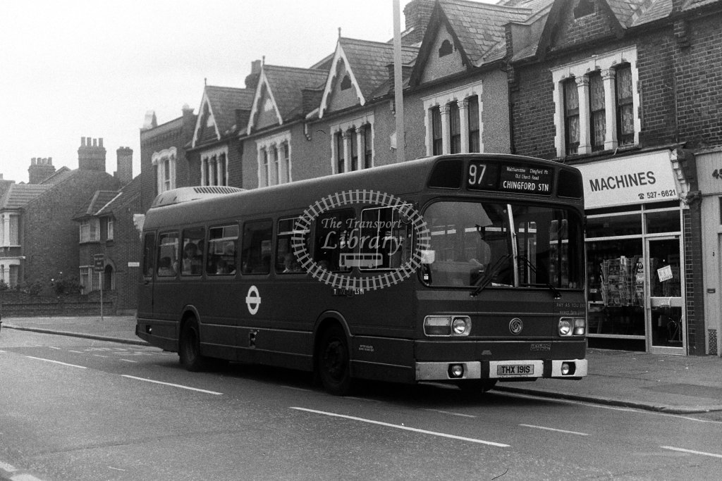 London Transport Leyland National LS191 THX191S  on route 97  in 1980s - JGS Smith