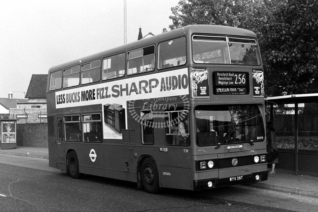 London Transport Leyland Titan T39 WYV39T  on route 256  in 1980s - JGS Smith