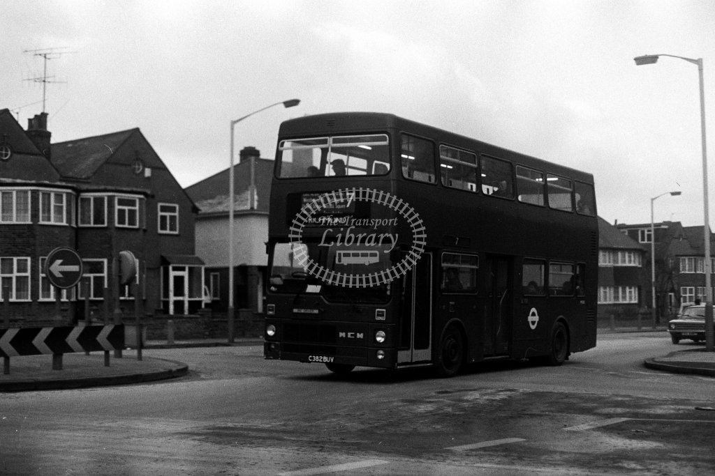 London Transport MCW Metrobus M1382 C382BUV  on route 7  in 1980s - JGS Smith
