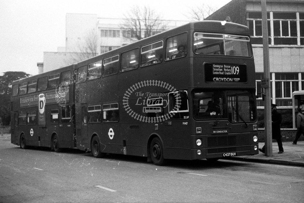 London Transport MCW Metrobus M1437 C437BUV  on route 109  in 1980s - JGS Smith