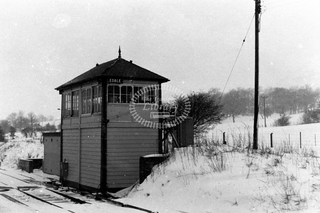 British Rail Signal Box  at Edale  in 1980s - JGS Smith