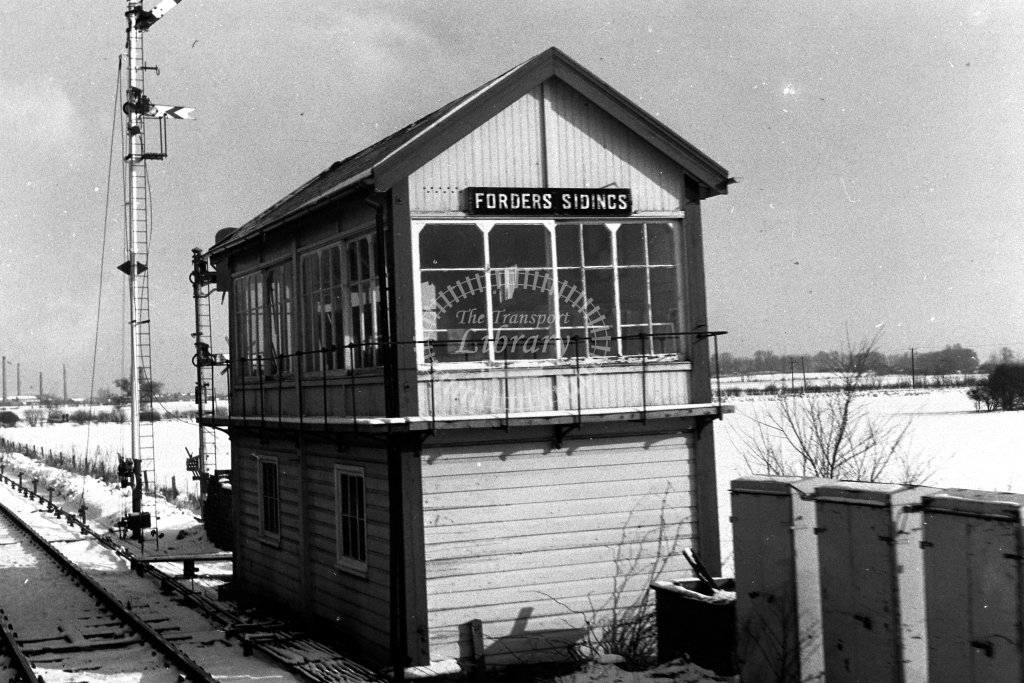 British Rail Signal Box  at Forders Sidings  in 1980s - JGS Smith