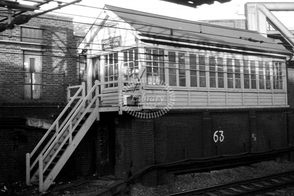 British Rail Signal Box  at Forest Gate Junction  in 1980s - JGS Smith
