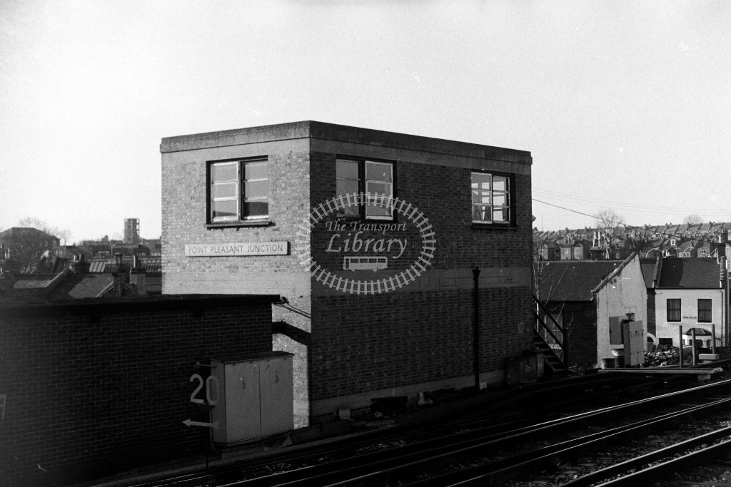 British Rail Signal Box  at Point Pleasant Junction  in 1980s - JGS Smith
