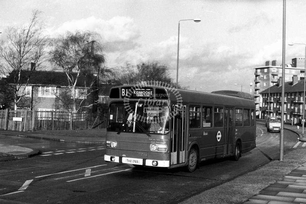 London Transport Leyland National LS176 THX176S  on route B1  in 1980s - JGS Smith