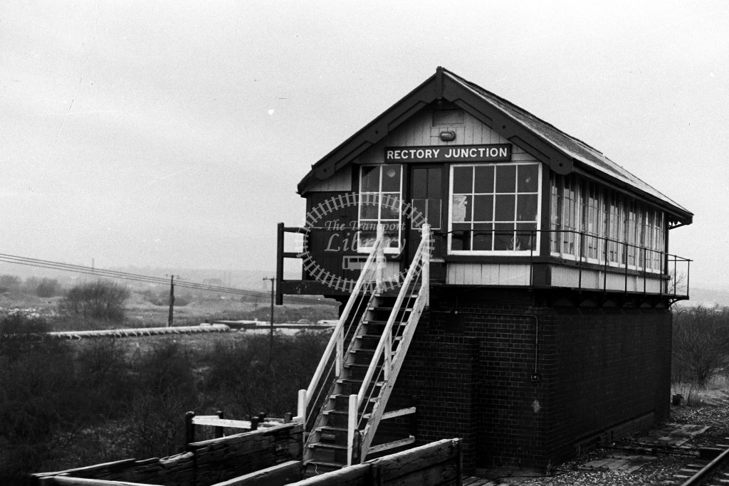 British Rail Signal Box  at Rectory Junction  in 1980s - JGS Smith