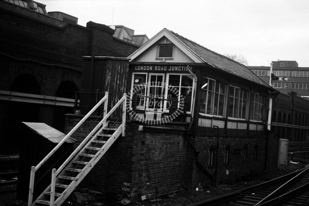 British Rail Signal Box  at London Road Junction  in 1980s - JGS Smith