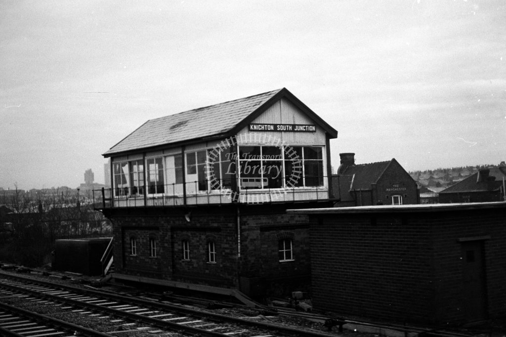British Rail Signal Box  at Knighton South Junction  in 1980s - JGS Smith