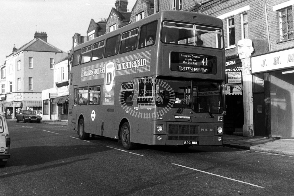 London Transport MCW Metrobus M1291 B291WUL  on route 41  in 1980s - JGS Smith