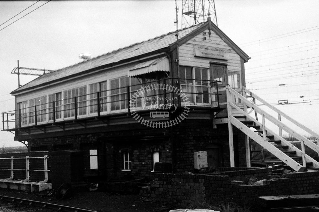British Rail Signal Box  at Willesden Brent Sidings  in 1980s - JGS Smith