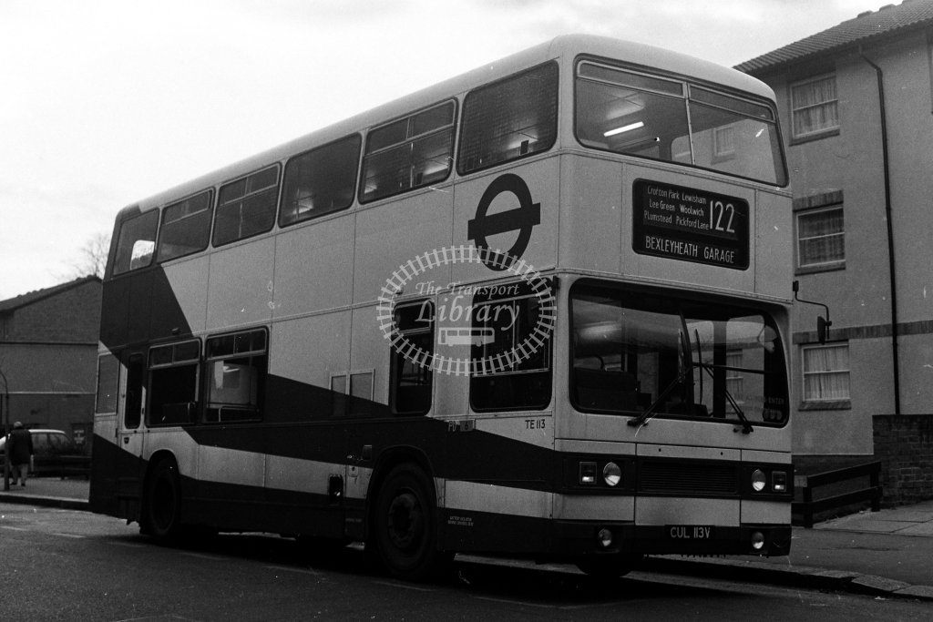 London Transport Leyland Titan TE113 CUL113V  on route 122  in 1980s - JGS Smith