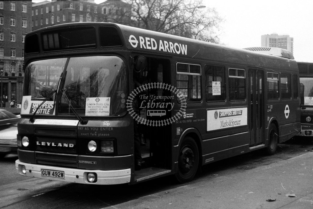 London Transport Leyland National LS492 GUW492W  in 1980s - JGS Smith