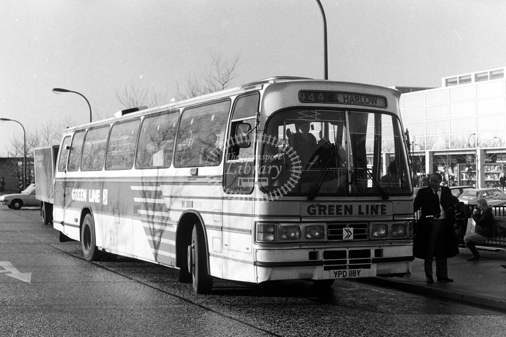 London Country Leyland Tiger TD18 YPD118Y  on route 944  at Milton Keynes  in 1980s - JGS Smith