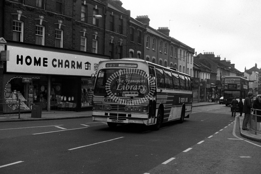 London Country Leyland Tiger TD45 YPD145Y  on route 503  in 1980s - JGS Smith