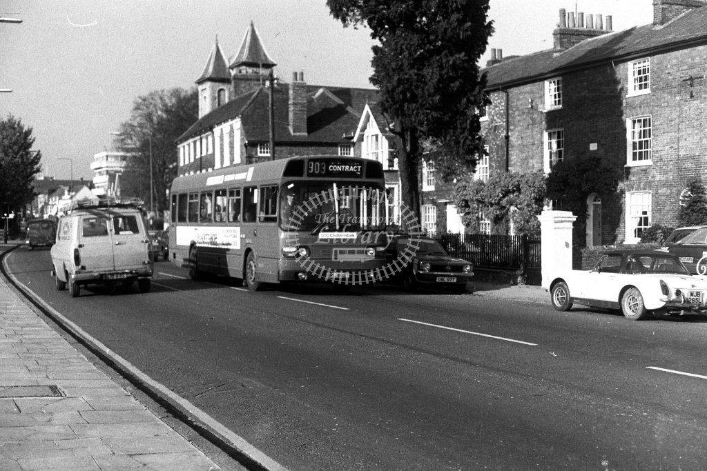 London Country Leyland National SNB462 BPL462T  on route 903  at High Wycombe  in 1980s - JGS Smith