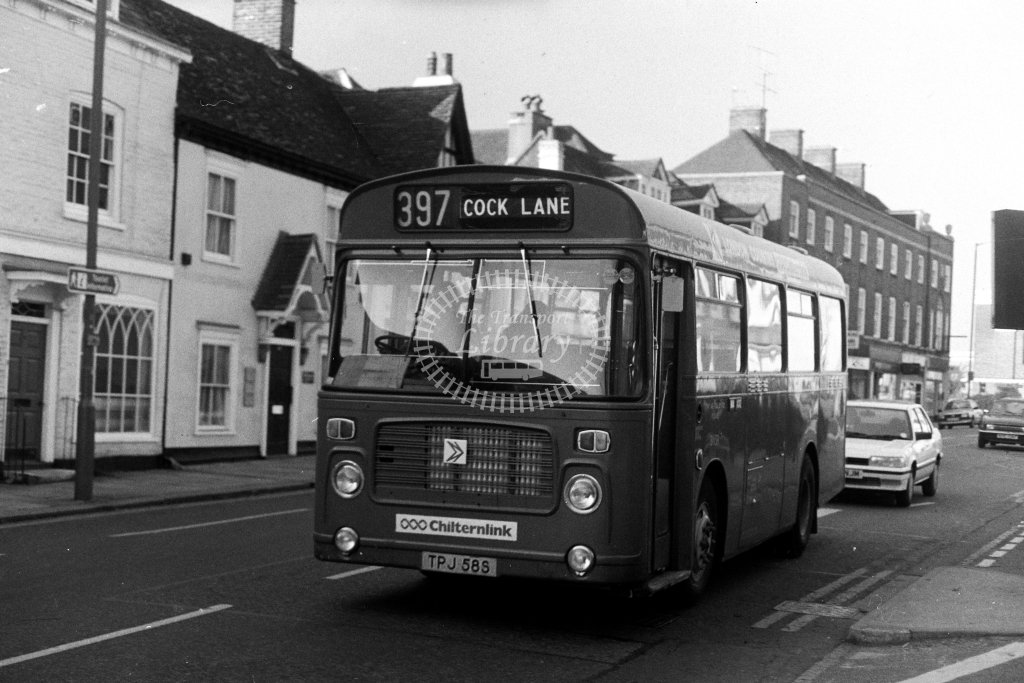 London Country Bristol LH BN58 TPJ58S  on route 397  at High Wycombe  in 1980s - JGS Smith