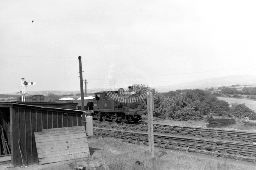 British Railways 30225 (RF distant) with wagons on the line to Callington viewed from Plymouth tn 2/6/60 - James Harrold