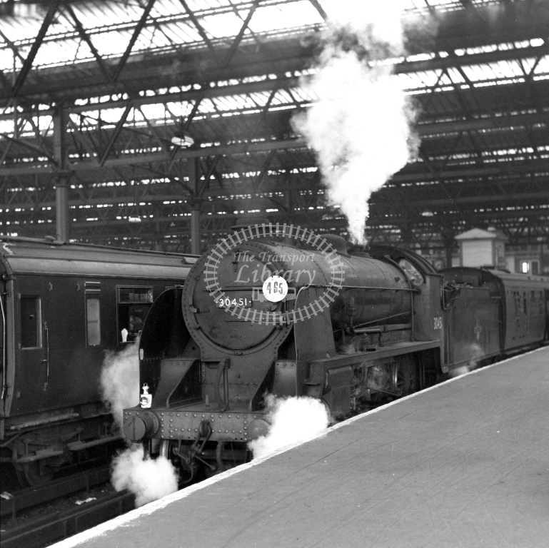 British Railways 30451 N15 (LF) tn Waterloo 28/4/62 - James Harrold