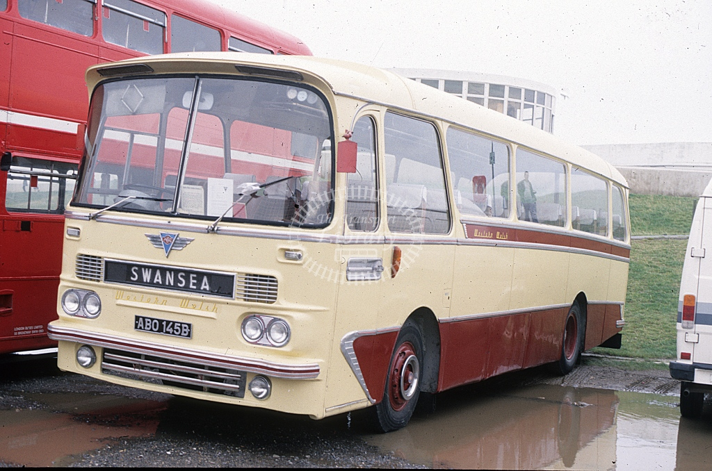 Western Welsh AEC Reliance 145 ABO145B  at Castle Point rally  in 1988 - Oct - J S Cockshott