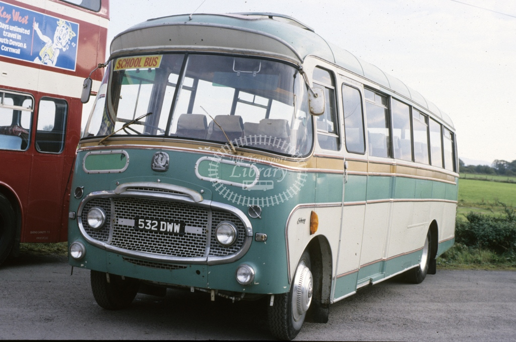 not recorded Bedford SB 532DWW  at Plymouth  in 1988 - Oct - J S Cockshott