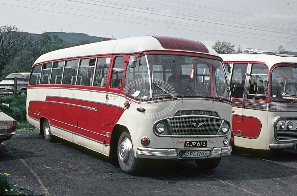 Yule, Pitlochry Bedford SB  GJP613  at Pitlochry Visitor Centre  in 1975 - May - J S C Archive