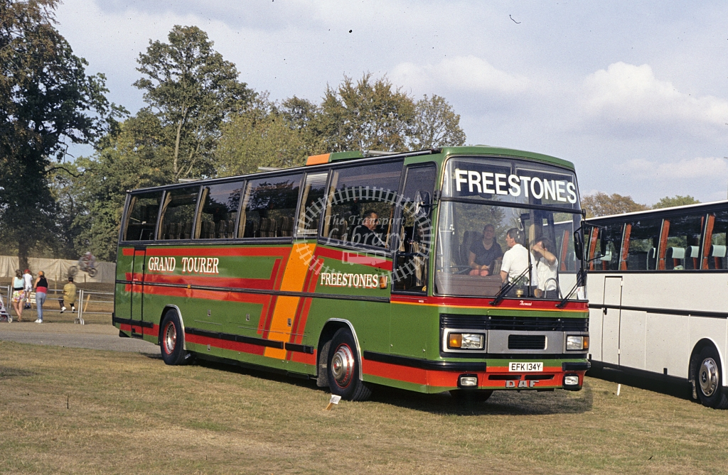 Freestone, Norwich DAF MB200 EFK134Y  at rally  in 1990 - Sep - J S C Archive