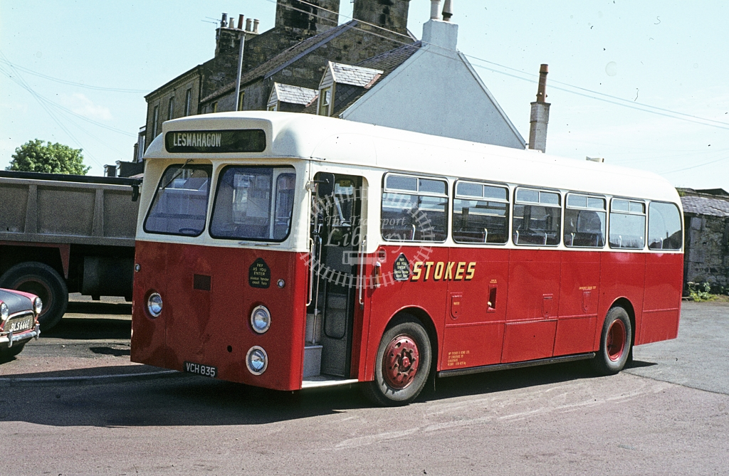 Stokes, Carstairs Leyland Tiger Cub VCH835  at operator's premises  in 1978 - Jun - J S C Archive
