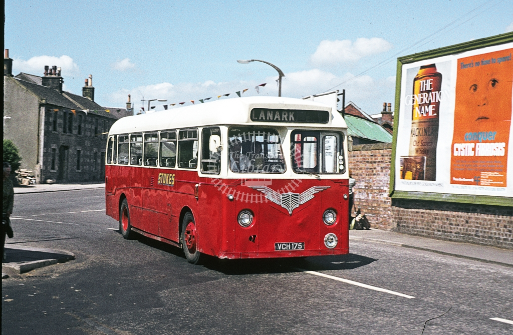 Stokes, Carstairs Leyland Tiger Cub VCH175  at Carstairs  in 1978 - Jun - J S C Archive