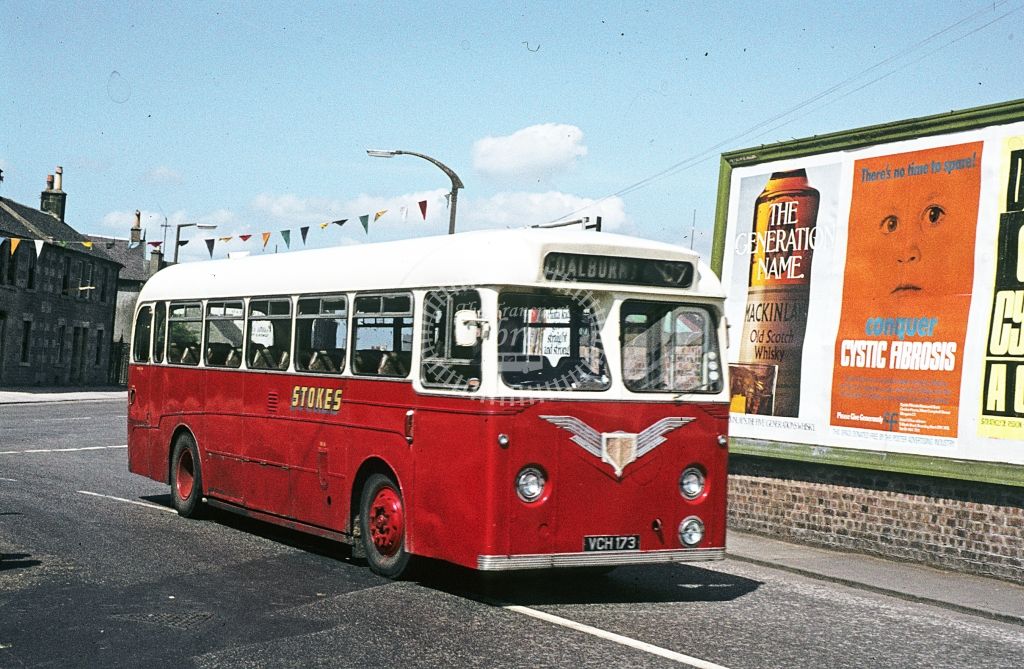 Stokes, Carstairs Leyland Tiger Cub VCH173  at Carstairs  in 1978 - Jun - J S C Archive