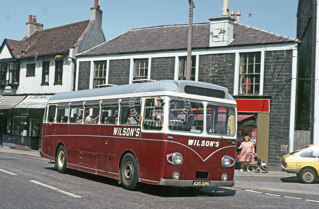 Wilson, Carnwath AEC Reliance 420DHO  at Carstairs  in 1978 - Jun - J S C Archive