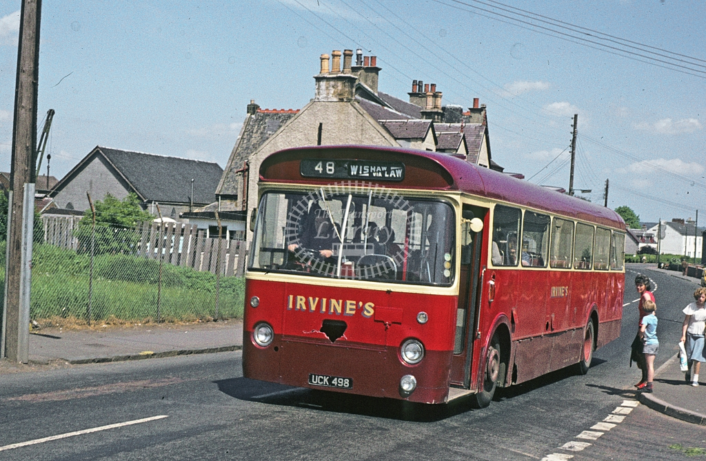 Irvine, Law Leyland Leopard UCK498  at Law  in 1978 - Jun - J S C Archive